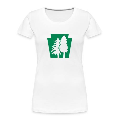 PA Keystone w/trees - Women's Premium Organic T-Shirt