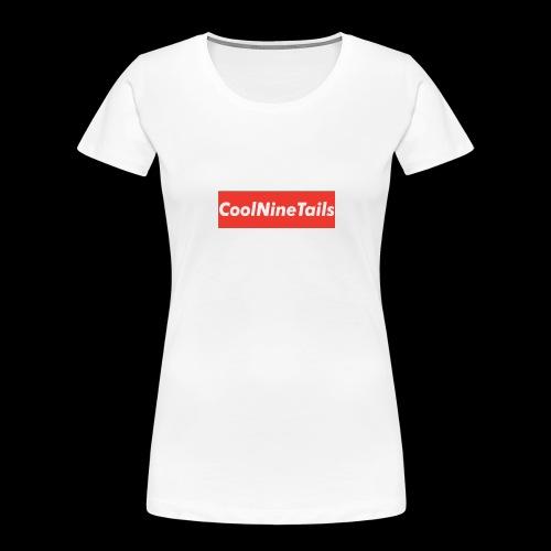 CoolNineTails supreme logo - Women's Premium Organic T-Shirt