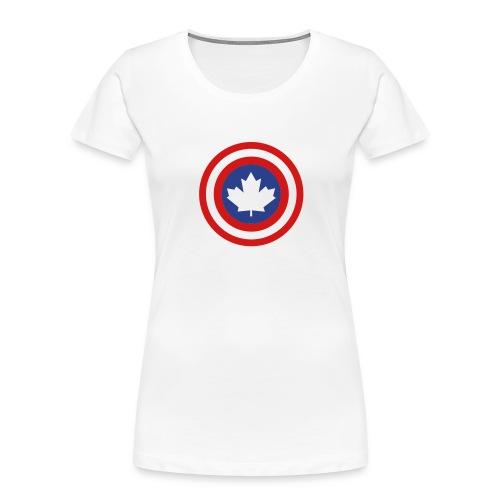 Captain Canada Shield 2 Colour - Women's Premium Organic T-Shirt