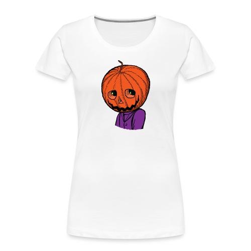 Pumpkin Head Halloween - Women's Premium Organic T-Shirt