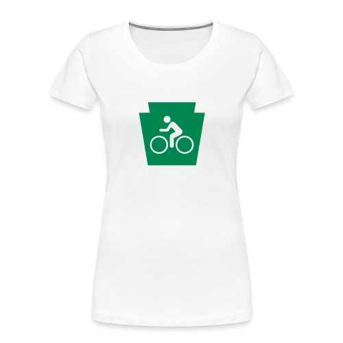 PA Keystone w/Bike (bicycle) - Women's Premium Organic T-Shirt