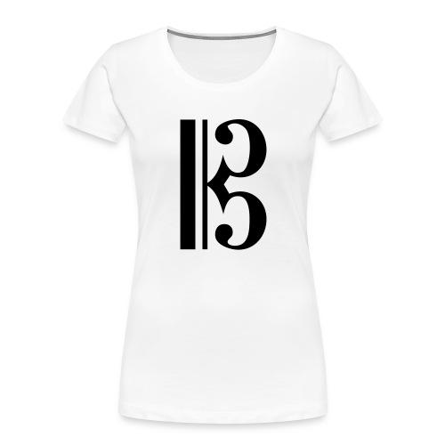 Tenor/Alto Clef - Women's Premium Organic T-Shirt