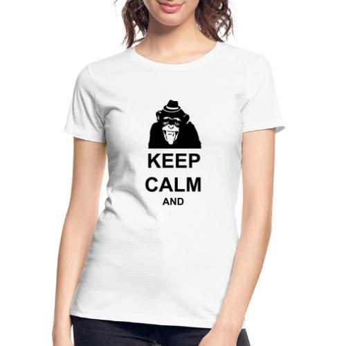 KEEP CALM MONKEY CUSTOM TEXT - Women's Premium Organic T-Shirt