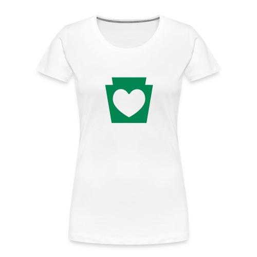 Love/Heart PA Keystone - Women's Premium Organic T-Shirt