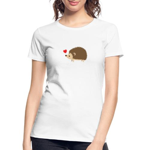 Hedgehog with Heart - Women's Premium Organic T-Shirt