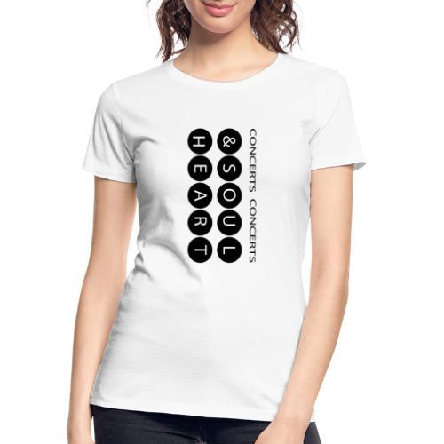 Heart & Soul concerts text design 2021 flip - Women's Premium Organic T-Shirt