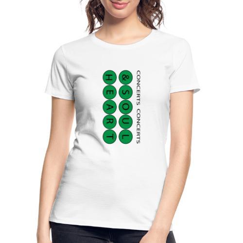 Heart & Soul Concerts text design - Mother Earth - Women's Premium Organic T-Shirt