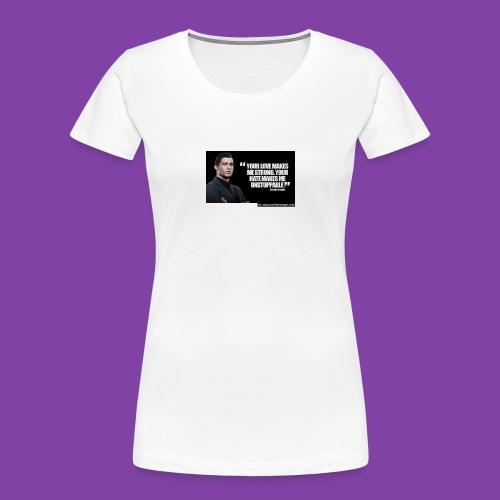 255777-Cristiano-ronaldo------quote-w - Women's Premium Organic T-Shirt