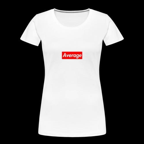 Average Supreme Logo Mockup - Women's Premium Organic T-Shirt