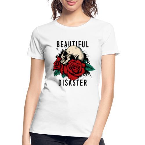 skull roses - Women's Premium Organic T-Shirt