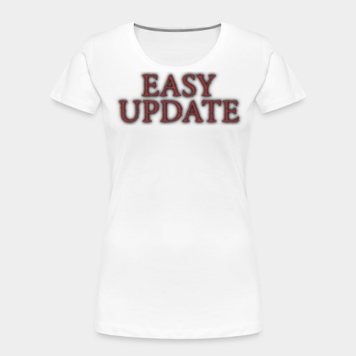 Easy Update Logo Red - Women's Premium Organic T-Shirt