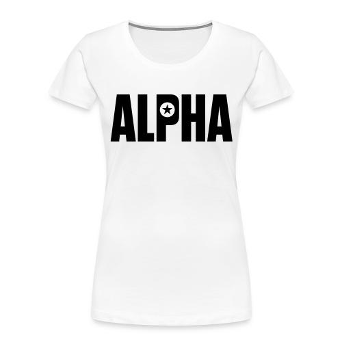 ALPHA - Women's Premium Organic T-Shirt