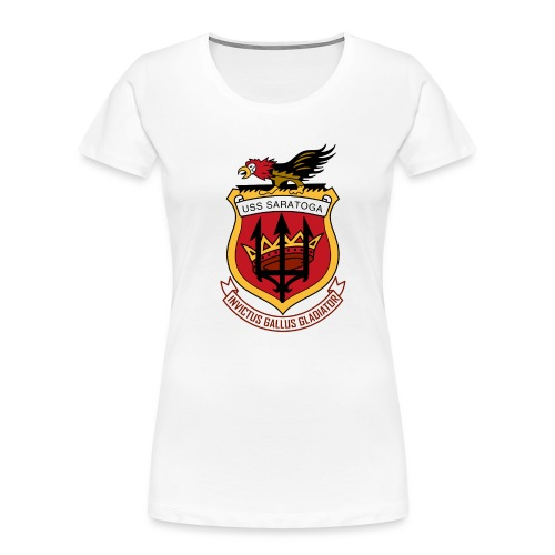 USS Saratoga CV60 - Women's Premium Organic T-Shirt