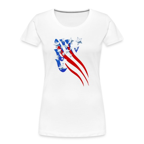 Sweeping Old Glory - Women's Premium Organic T-Shirt