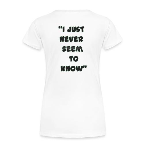 know png - Women's Premium Organic T-Shirt