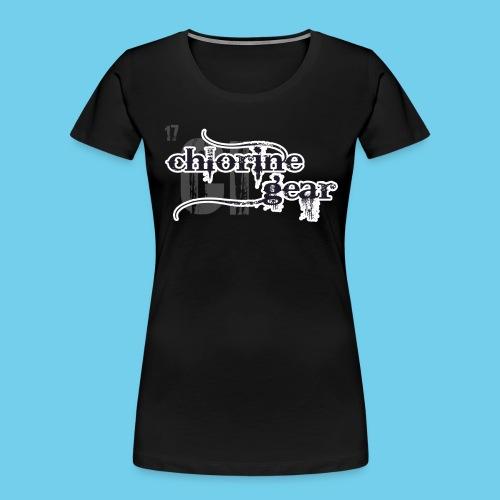 Chlorine Gear Textual B W - Women's Premium Organic T-Shirt