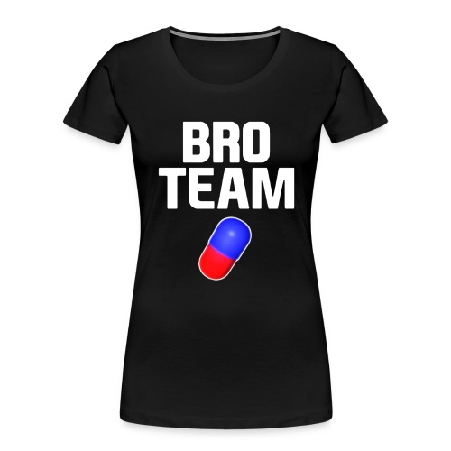 Bro Team White Words Logo Women's T-Shirts - Women's Premium Organic T-Shirt