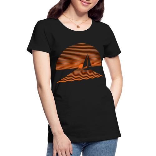 Sunset Sailboat - Women's Premium Organic T-Shirt