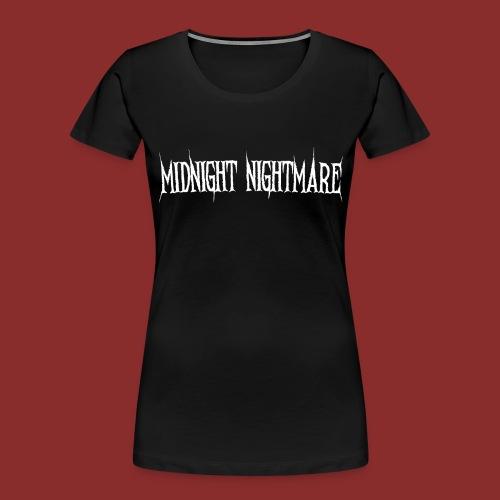 Midnight Nightmare Logo-w - Women's Premium Organic T-Shirt