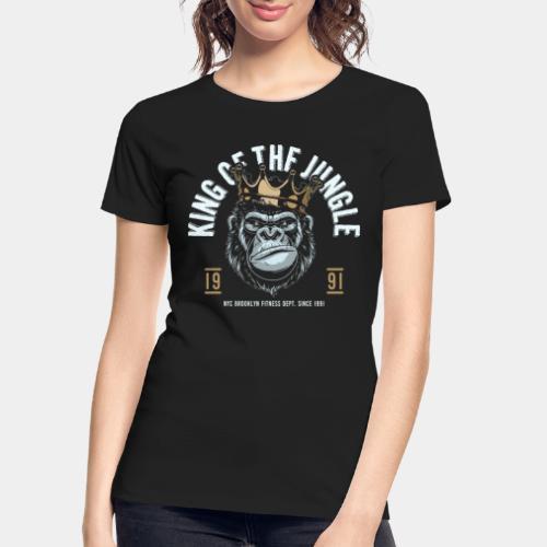 jungle king fitness gorilla - Women's Premium Organic T-Shirt