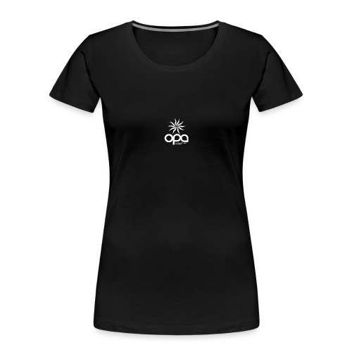 Short Sleeve T-Shirt with small all white OPA logo - Women's Premium Organic T-Shirt