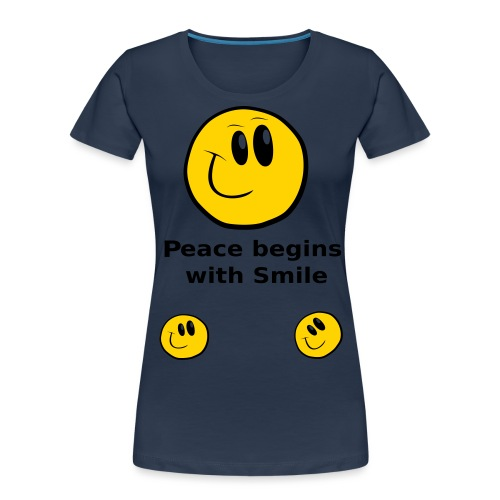 Peace begins with Smile - Women's Premium Organic T-Shirt