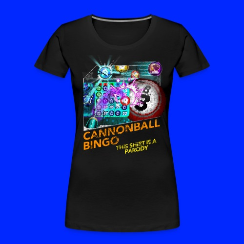 Vintage Cannonball Bingo Box Art Tee - Women's Premium Organic T-Shirt