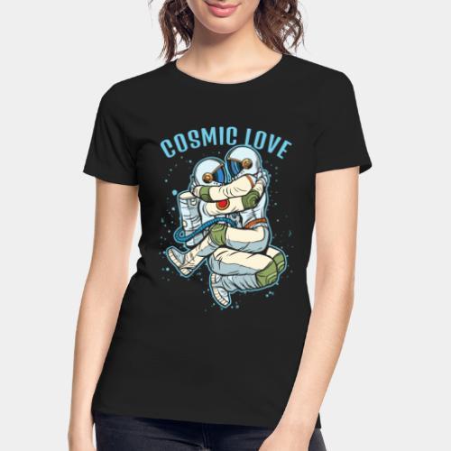 cosmic love astronaut space - Women's Premium Organic T-Shirt