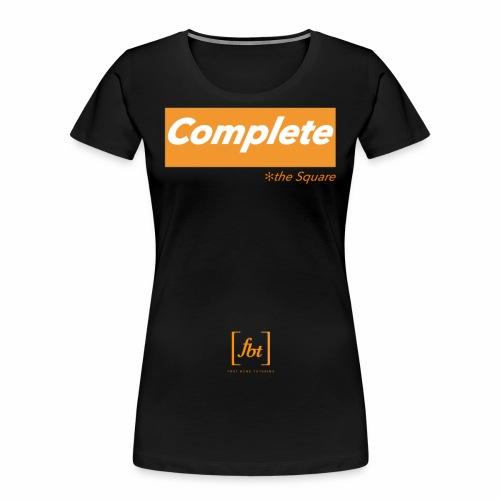 Complete the Square [fbt] - Women's Premium Organic T-Shirt