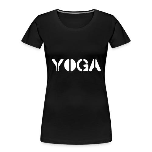 YOGA white - Women's Premium Organic T-Shirt