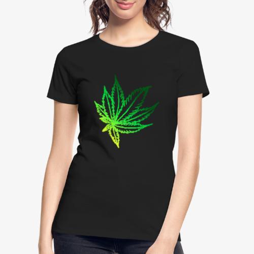 green leaf - Women's Premium Organic T-Shirt