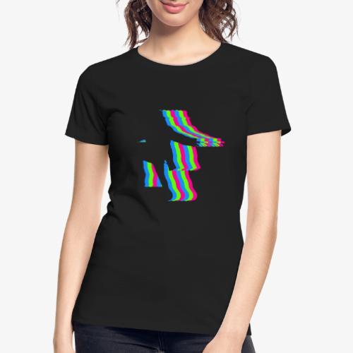 silhouette rainbow cut 1 - Women's Premium Organic T-Shirt