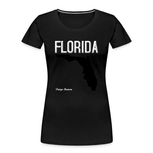 FLORIDA REGION MAP WHITE - Women's Premium Organic T-Shirt
