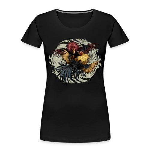 Ying Yang Gallos by Rollinlow - Women's Premium Organic T-Shirt