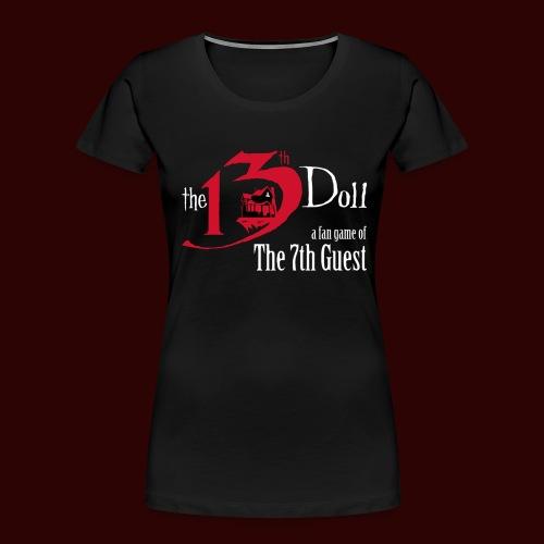The 13th Doll Logo - Women's Premium Organic T-Shirt