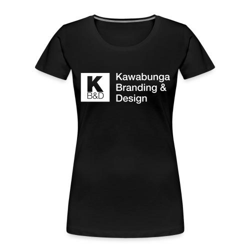 KBD Signature_blanc - Women's Premium Organic T-Shirt