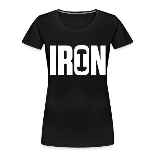 IRON WEIGHTS - Women's Premium Organic T-Shirt