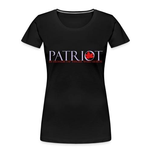 PATRIOT_LOGO_10_-_reverse - Women's Premium Organic T-Shirt
