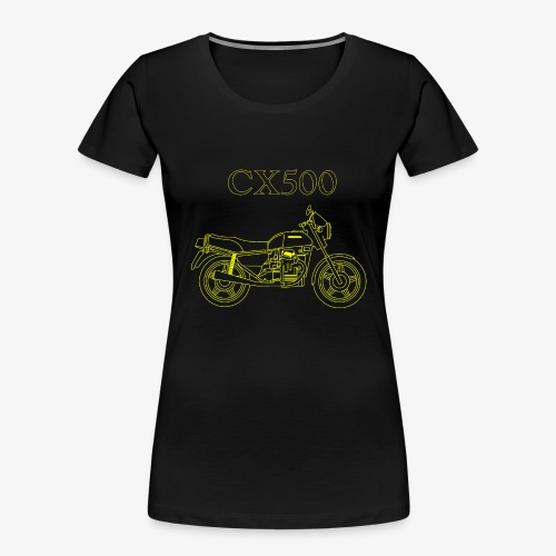 CX500 line drawing - Women's Premium Organic T-Shirt