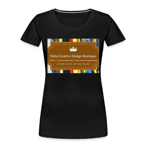 Debs Creative Design Boutique with site - Women's Premium Organic T-Shirt