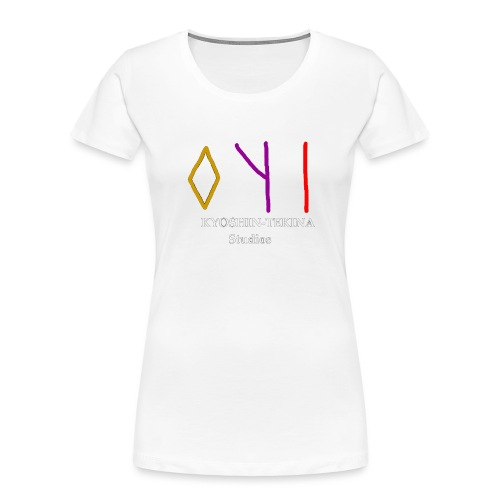 Kyoshin-Tekina Studios logo (white text) - Women's Premium Organic T-Shirt