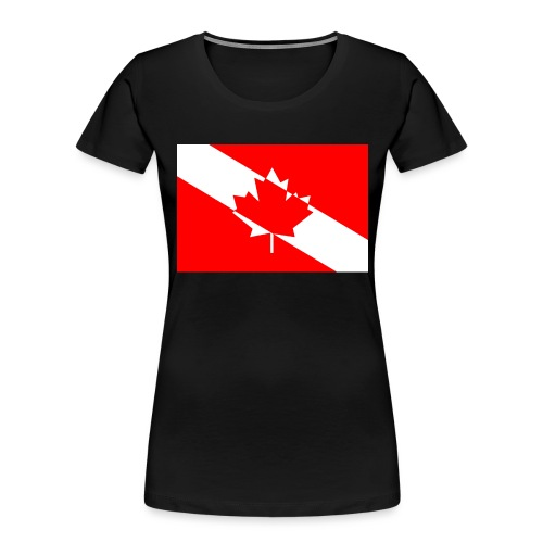 Canadian Diver Flag in Red & White - Women's Premium Organic T-Shirt