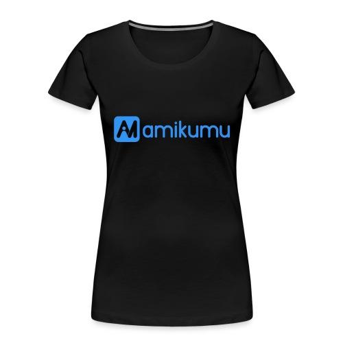 Amikumu Logo Blue - Women's Premium Organic T-Shirt