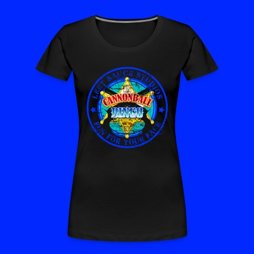 Vintage Cannonball Bingo Badge Blue - Women's Premium Organic T-Shirt