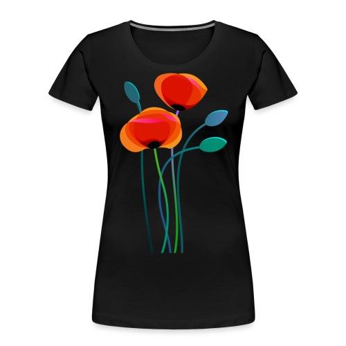 Poppy Flowers - Women's Premium Organic T-Shirt