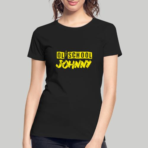 Ol' School Johnny Logo in Yellow - Women's Premium Organic T-Shirt