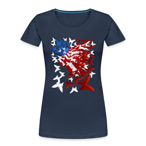The Butterfly Flag - Women's Premium Organic T-Shirt