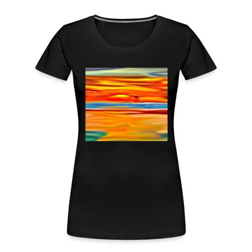 Orange rise - Women's Premium Organic T-Shirt