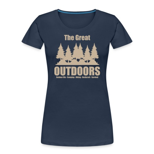 The great outdoors - Clothes for outdoor life - Women's Premium Organic T-Shirt