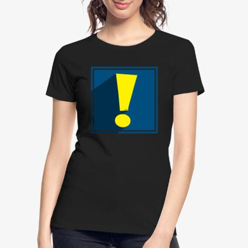 Whee Shadow Exclamation Point - Women's Premium Organic T-Shirt